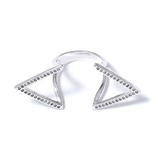Кольца Herald Percy Серебристое кольцо с открытыми углами