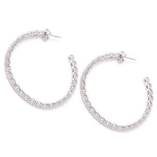 Серьги Herald Percy Серебристые серьги-кольца с круглыми кристаллами кольца кюз дельта 114454 d
