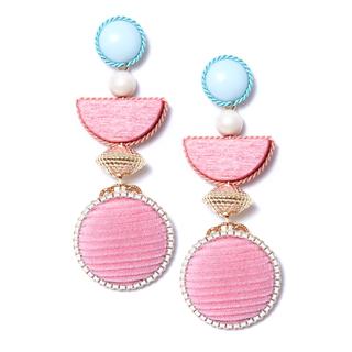 Серьги Herald Percy Серьги с розовыми подвесками серьги с подвесками jv серебряные серьги с ювелирным стеклом eb3200 us 001 wg