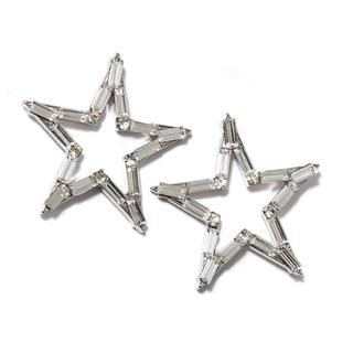 Серьги Herald Percy Серьги-звезды из кристаллов серьги herald percy серьга кафф из прямоугольных кристаллов