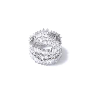 Кольца Herald Percy Широкое кольцо с прозрачными кристаллами 17 (Размер 17)
