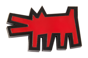 Красная брошь Dog