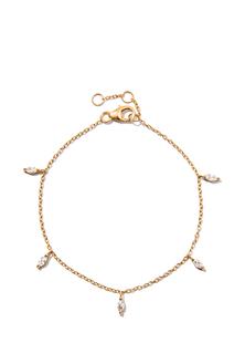Браслеты Exclaim Легкий браслет-цепочка из серебра с золотым покрытием exclaim браслет цепочка с бусинами