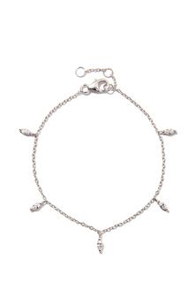 Браслеты Exclaim Легкий браслет-цепочка с миниатюрными цирконами exclaim серебряный браслет цепочка с подвесками
