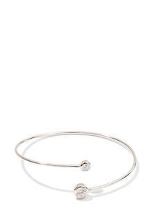Браслеты Exclaim Незамкнутый браслет из серебра с сияющими цирконами