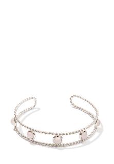 Браслеты Exclaim Незамкнутый браслет с нежно-розовым кварцем