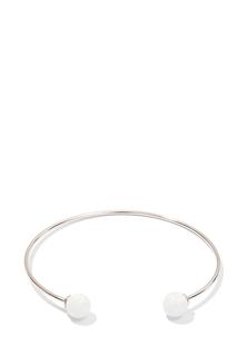Браслеты Exclaim Открытый браслет из серебра с круглыми опалами