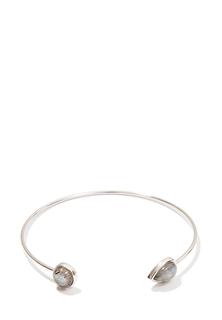 Браслеты Exclaim Открытый браслет из стерлингового серебра с лабрадоритами
