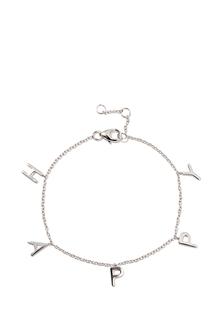 Браслеты Exclaim Серебряный браслет-цепочка с подвесками в форме букв Happy exclaim серебряный браслет цепочка с подвесками