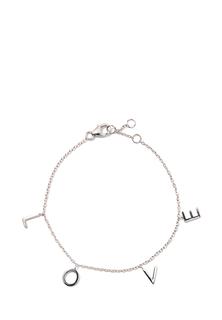 Браслеты Exclaim Серебряный браслет-цепочка с подвесками в форме букв Love exclaim серебряный браслет цепочка с подвесками