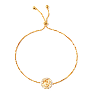 Браслеты Herald Percy Позолоченный браслет-цепочка с арабской вязью на подвеске herald percy колье с цирконами