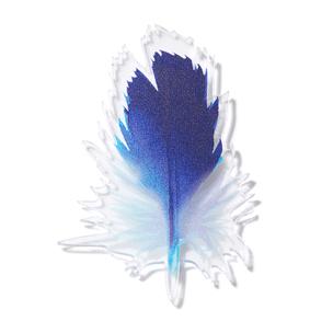 Синяя брошь Перо