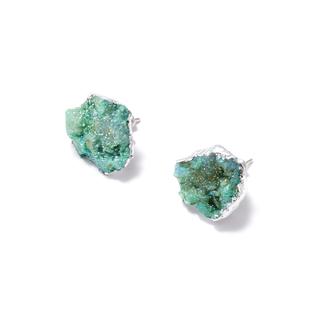 Серьги Wisteria Gems Серьги-пуссеты с друзами цвета морской волны
