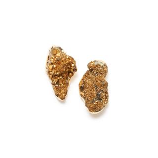 Серьги Wisteria Gems Серьги-пуссеты с друзами золотого цвета