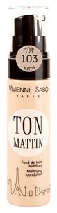 Тональный крем Fond de Teint Matifiant Ton Mattin цвет 103 Темно-бежевый