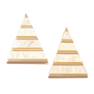 Серьги Aloud Серьги-пирамиды с золотистыми полосками