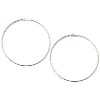 Серьги Aqua Серебристые крупные серьги-кольца