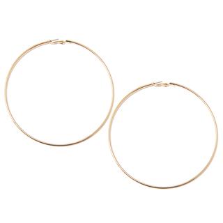 Серьги Aqua Золотистые крупные серьги-кольца