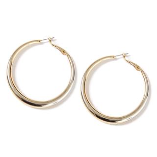 Серьги Aqua Золотистые серьги-кольца дутые