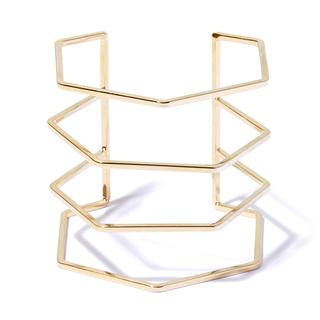 Браслеты Aqua Золотистый геометрический браслет елена крош аппликация из геометрических фигур