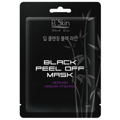 Маска - El`skin Black Peel-off Mask