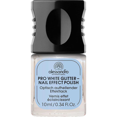 Лак для ногтей - Pro White Glitter Nail Effect Polish