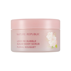 Скрабы и пилинги - Love Me Bubble Sugar Body Scrub Floral Bouquet