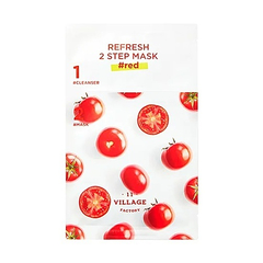 Тканевая маска - Refresh 2-step Mask Red