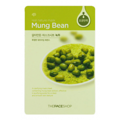 Тканевая маска - Real Nature Mask Sheet Mung Bean
