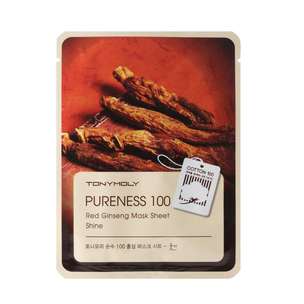 Тканевая маска - Pureness 100 Red Ginseng Mask Sheet