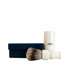 Помазки - Turnback Travel Shave Brush Faux Ivory Super Badger