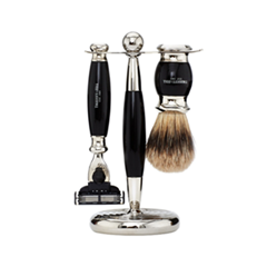 Для бритья - Набор Edwardian Set Faux Ebony: Badger Brush Mach III Razor Stand