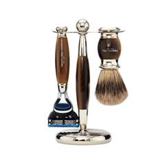 Для бритья - Набор Edwardian Set Faux Horn: Badger Brush Fusion Razor Stand