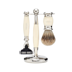 Для бритья - Набор Edwardian Set Faux Ivory: Badger Badger MachIII Razor Stand