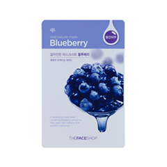 Тканевая маска - Real Nature Mask Sheet Blueberry
