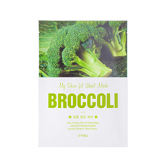 Тканевая маска - My Skin-Fit Sheet Mask Broccoli